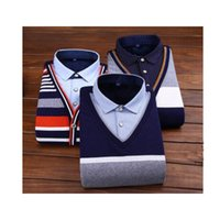 Wholesale 2016 new arrival year T shit man men fashion Casual Shirts winter slim fit clothes dress christmas birthday party gift