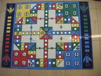 Wholesale Flying chess carpet mat super sized mail adult fluffy plane chess game