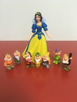 Wholesale Snow White CM Seven Dwarf Dolls CM Sets PVC Action Figures Small Decoration Evade Glue Doll