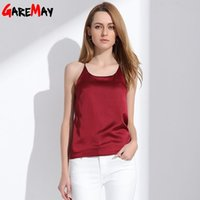 Wholesale Silk Halter Top Women Camisole Summer Style Sexy Sleeveless Vest Slim White Crop Top Women Camis Roupas Femininas XL Y328a