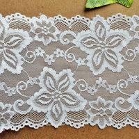 Wholesale 15 CM Width White Jacquard Lace Trim Eyelet Decoration Ribbon Lace Flowers Hollow out DIY Clothing Fabric