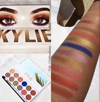 venda por atacado pincéis de maquiagem-New Kylie Jenner Maquiagem Kylie Cosméticos Royal Peach Sombra Paleta Kyshadow 12 cores Sombra Kit com escova DHL Frete Grátis