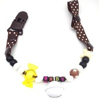 Wholesale Babycare Baby Pacifier pacifier chain tooth rubber anti lost Baby Pacifier Clip chain chain