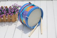 bass instrumentals - Baby brand Marching drum wooden music instrumental toys big sze Kids Child Orff early learning educational toys