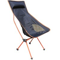 Wholesale New Orange Beach chairs Portable Folding Camping Stool Chair Max load bearing kg silla plegable can adjust the height
