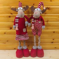 best tree stands - 71 cm Christmas Decor Products Reindeer Doll Christmas Decoration Xmas Tree Indoor Ornaments Standing Pendants Best Gifts SD081