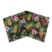 beverage napkins - RainLoong Beverage Fruit Paper Napkins Pineapple Event Party Supplies Feature Paper Serviettes Tissue Decoupage Table Decoration cm