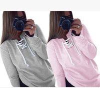 Wholesale New Women Long Sleeve Hoodie Sweatshirt Sweater Casual Hoodied Letter Pullover Print Hoodies Sport sweater fleeces Hoody Womens Clothing