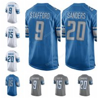 Men barry sanders football jersey - 2017 Men Barry Sanders Jersey Hot Sale Color Rush Golden Tate III Matthew Stafford Football Jerseys American Team Blue White Gray