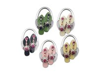 Wholesale high heel Bag Hangers DIY Foldable Handbag Hanger Bag Purse Hanger folding Hook Holder for Restaurant Table