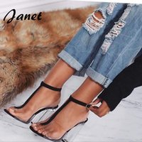 Wholesale NEW Sandals Shoes Black Sandals for Summer Chunky Heels Women Shoes High Top Sandals gladiator heels Women Shoes Silver Black Plus Size