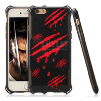 apple origins - For Iphone s Wolverine Case Edge TPU And PC Cover Case X MEN ORIGINS Printed Cellphone Case For Iphone s Plus With OPP Package