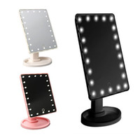 Wholesale 360 Degree Rotary Makeup Mirror LEDs Lighted Makeup Mirror Portable with Touch Screen Colors
