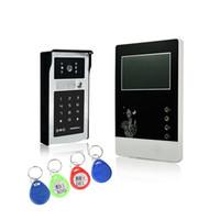 Câblé vidéo porte téléphone 4.3 pouces de l'écran de type classique et caméra en alliage intercom avec déverrouillage par ID clé ou mot de passe