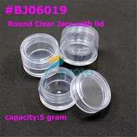 storage arts plastic containers - Makartt g Small Clear Round Bottle Jars Hard Plastic Container Caps Pot Nail Art Storage for Acrylic Powder Glitter Powde F0003X