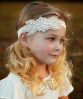 Wholesale 2016 Crystals Flower Girl Baby Hair Accessories Cheap Wedding Little Girl Headbands CM Wedding Jewelries