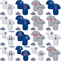 Wholesale 2016 World Series Champions Patch Youth Chicago Cubs Javier Baez Kris Bryant Rizzo David Ross Kids Baseball Jersey Stitch