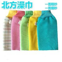 Wholesale Thick scrub scrub bath towel bath towel Chopping strong rubbing mud exfoliating gloves