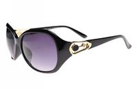 Cheap Fashion Brand sunglasses with original box Best Woman Antireflection Leopard black sunglasses
