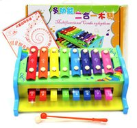 Wholesale multifunctional xylophone wooden toy wooden xylophone musical toy baby toddle kids wisdom development music instrument piano C337 Free DHL
