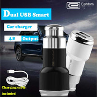 best portable usb charger - Earldom Best selling Mobile Portable Car Charger A Drag Two Cigarette Lighter Car Multi function Dual Usb Quick Charge
