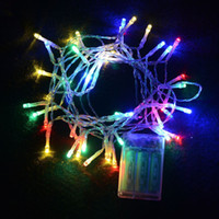 Flash Christmas Waterproof Outdoor Indoor Festival String Lights 2M 20 LED Colorful LED String Lights Battery Operated Christmas String New Year Wedding Decorations