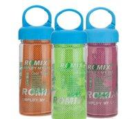 Precio de Bufanda para el frío-30x90cm Toalla fría en botella de beber Fitness Yoga Verano Enfriamiento Toallas de doble capa Deportes al aire libre Hielo Escalera bufanda Pad