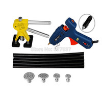 aluminum pull tabs - PDR Tool Kit Dent Removal Paintless Dent Repair Tools PDR Dent Puller Aluminum Puller Tabs Pulling Bridge Glue Gun Glue Sticks