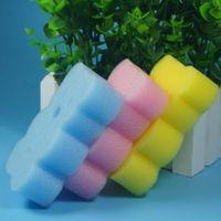 Wholesale Brushes towel accessories Baby BathInfant Shower faucet Sponge Cotton Rubbing Body Wash child Brush bath brushes sponges rub for baby