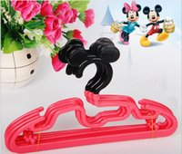 baby clothes rack - Baby Children Clothes Hanger Mickey Cartoon Plastic Kids Coat T shirt Trouser Dress Accesories Racks about cm red color