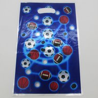 April Fool's Day basketball party bags - football basketball print party loot bag plastic gift bag children kids candy bag