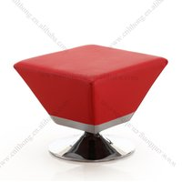 Wholesale T6 colorful hot sale in fabric PU leather metal base stool for footrest and footrest use for hotel furniture