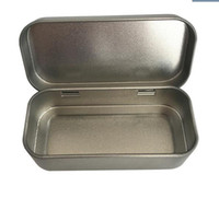 Wholesale Small sliver tin box rectangle hinged box for packing size mm X mm X mm set