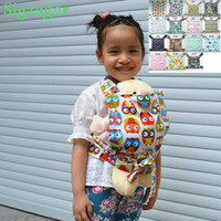 Wholesale Sigzagor Baby Doll Carrier Mei Tai Sling Toy For Kids Children Toddler Gift Front Back Owl Dot Flower Car Plane Patterns