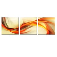 Wholesale 3 Picture Combination Wall Art Painted Oil Painting Abstract Colorful Ribbon with No Frame On Canvas For Home Decor