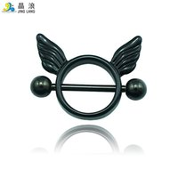 bell button metal - New DIY High Quality Fashion Metal Color Torus and Wing Nipple Rings For Women Body Jewelry