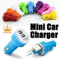 Wholesale with retailbox Micro Auto Universal Dual USB Car Charger For iPad for iPhone V A Mini Adapter Color for Choice Brothers cn