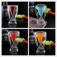 Wholesale Crystal Mermaid Glass Mug Cup Manmade Double Wall Glass Heat Resistant Mug Vodka Shot Drinking Bar Party Cup Coffee Cup