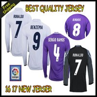 Wholesale 2016 Reals Madrid jersey Ronaldo Soccer jersey MODRIC BALE KROOS ISCO BENZEMA Bell football shirts Camisa JAMES jersey
