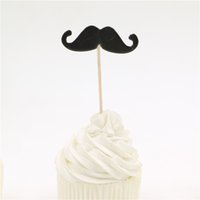 bag moustache - bag Black moustache cupcake toppers picks forl boys kids birthday party decorations event party supplies