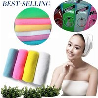 Wholesale 1000pcs High Quality Novelty Multi Colors Nylon Japanese Exfoliating Beauty Skin Shower Wash Bath Cloth Towel Back Scrubbers I009