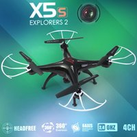 Wholesale Syma X5SC With MP HD Camera G CH Axis Headless Mode RC Quadcopter Black White