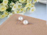 allergies natural - Natural freshwater pearl earrings S925 pure silver shell pearl has stud earrings allergy free joker pearl jewelry fashion model