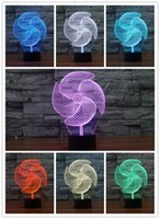 Wholesale big Pinwheel D Night Light Set Colors Change LED Table Lamp Xmas Gift Creative Night Lamp