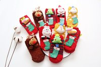 Wholesale The new cute cartoon children Christmas socks Chenille Baby Toddler doll socks dispensing anti skid floor socks