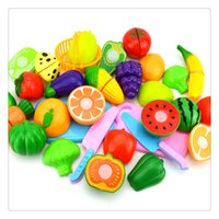 Wholesale Hot Play Food DressUp Plastic Cutting Fruits Vegetables Set Play Food Set For Baby Kids Pretend Play Educational Puzzle Learning Toys