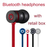For HTC apple computers boxes - New UR Bass in ear Wireless Bluetooth Headphone AAA Earphones Headset Stereo with Mic for cell phone Computer Headphones brand retail box