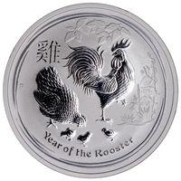 Casting australian folk art - 2017 Australian Mint Animal Coin Troy Oz Rooster Fine Silver Plated Coins