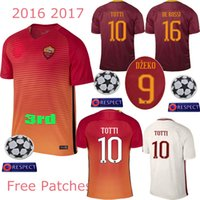 Wholesale 3AAA Thailand the best quality jersey romas jersey Totti De Rossi romes football clothes