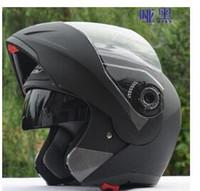 Wholesale NEW best safe motorcycle helmets dual lens visors flip up motocross helmets warm windproof sand dust proof
